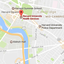 Harvard University Health Services Map